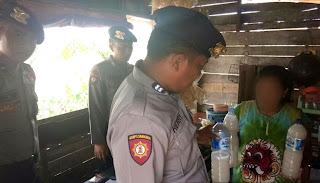 Polisi Amankan Miras Miras Dalam Razia Bina Kusuma