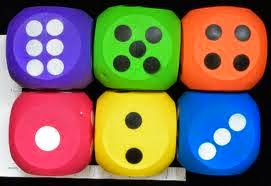 The kids found the dice for math games! Game ON!