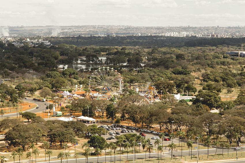 Parque da Cidade visto da Torre de TV de Brasilia