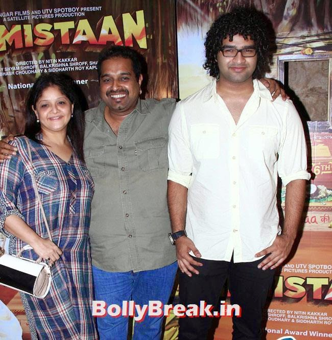 Shankar Mahadevan, Sangeeta Mahadevan and Siddharth Mahadevan, Aditi Rao, Shilpa, Tisca at Filmistaan Movie Special Screening at Lightbox