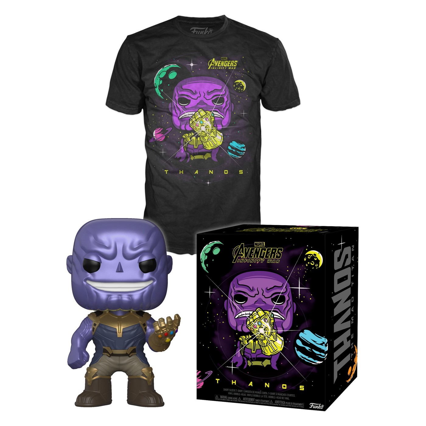 Target Exclusive Avengers Infinity War Thanos Pop! Figure   Pop! T-Shirt Box 01d9ee57f