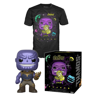 Target Exclusive Avengers Infinity War Thanos Pop! Figure & Pop! T-Shirt Box Set by Funko x Marvel