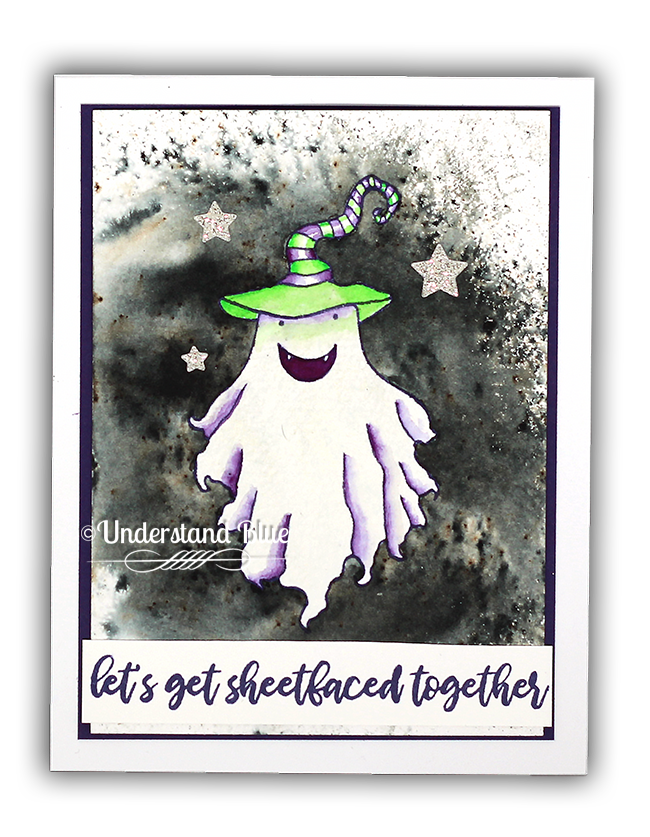 Masking Fluid Watercolor Ghost Card by Understand Blue