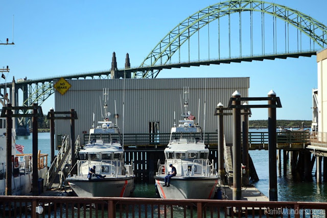 U.S. Coast Guard Boats at the dock in Newport, Oregon