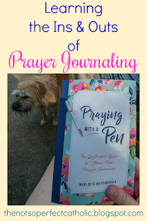 This blog post visits ideas for prayer journaling for beginners using a simple journal (from The Bible Study Evangelista) that is designed for you to make it your own. How my prayer life is evolving through using notebooks, Catholic quotes, daily prayers, and Scripture from the Daily Mass Readings. Pictures are provided as examples of how prayer journaling is changing my prayer life. Using the disc system I will show you how I organize part of my daily prayer routine.