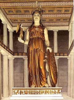 Estatua criselefantina de Atenea Parthenos, realizada por Fidias.