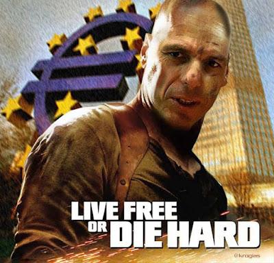 Griechenland Finanzkrise lustiges Satire Bild - Varoufakis