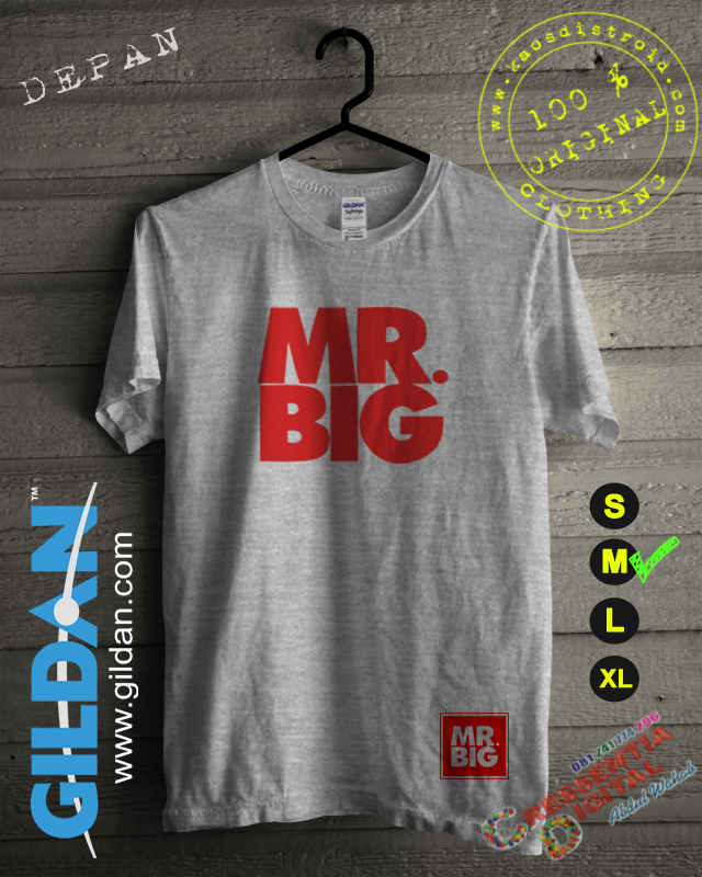 Kaos Mr Big Distro Id Warna Gray