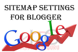 sitemap settings for blogger