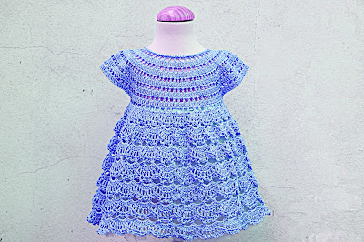 9 - Crochet IMAGEN Vestido rosa de abanicos a ganchillo Majovel Crochet