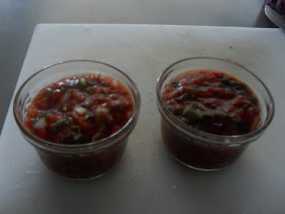 Two Individual Serving Bowls of Homemade Salsa