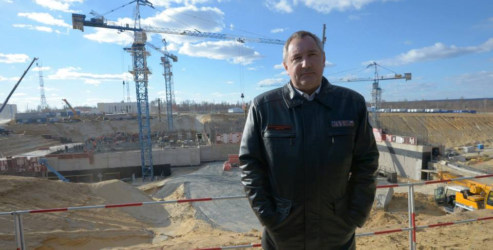 Russian Deputy Prime Minister Dmitry Rogozin at the Vostochny Spaceport construction site. Credit: Dmitry Rogozin/Facebook