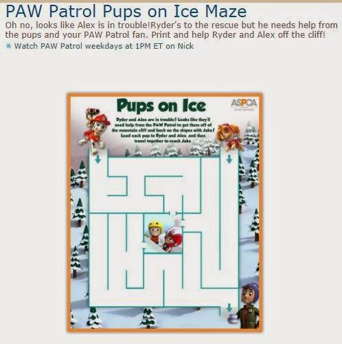 Paw Patrol Maze Printable On Log Wall