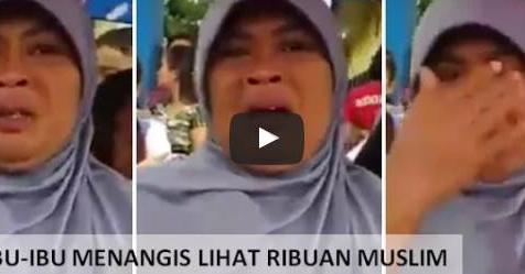 VIDEO: Lihat Ribuan Umat Islam Ciamis Berjalan Kaki, Ibu Ini Menangis Tersedu-Sedu Sambil Mendoakan
