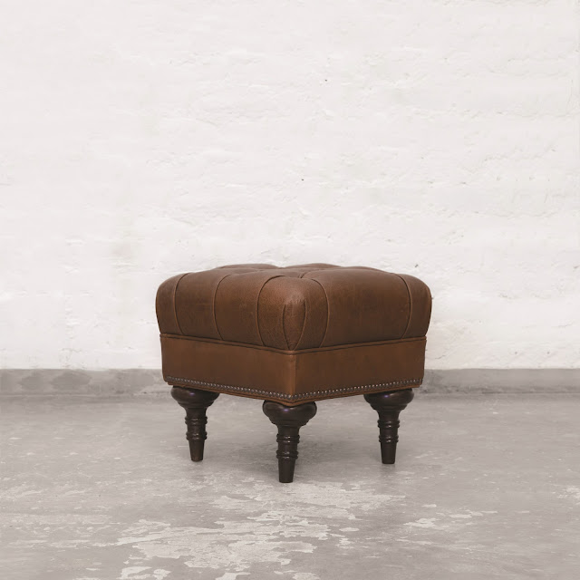 Easton Chestnut Leather Ottoman_Side View_RGB LowRes