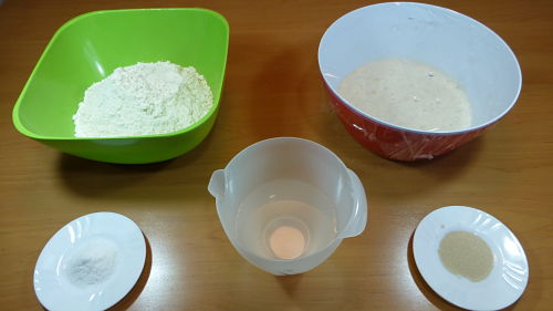 Baguettes caseras. Ingredientes