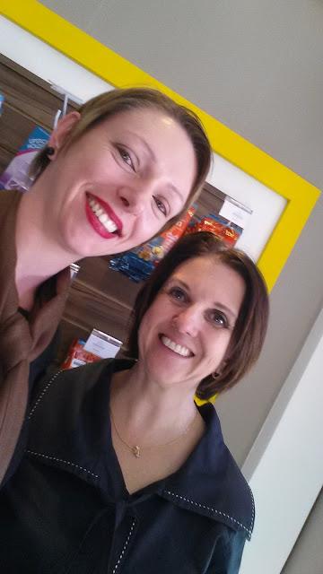 Edel e Sandra na loja Organon