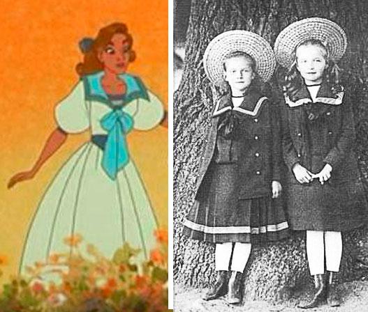 Filme Anastasia 1997 e ao lado Olga e Tatiana na infância