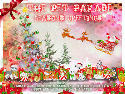 The Pet Parade Christmas banner