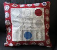 Applique circles cushion