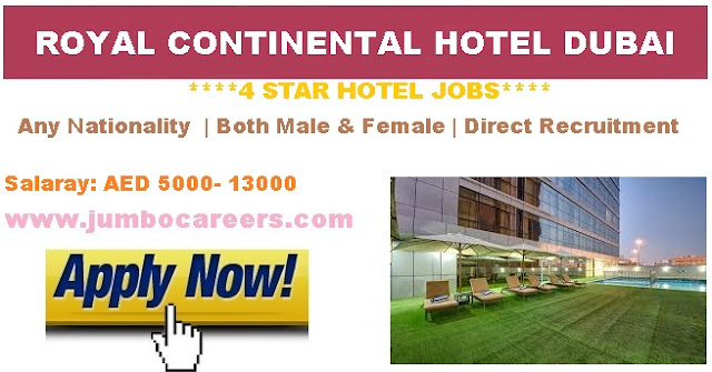 Royal Continental hotel job Salary.