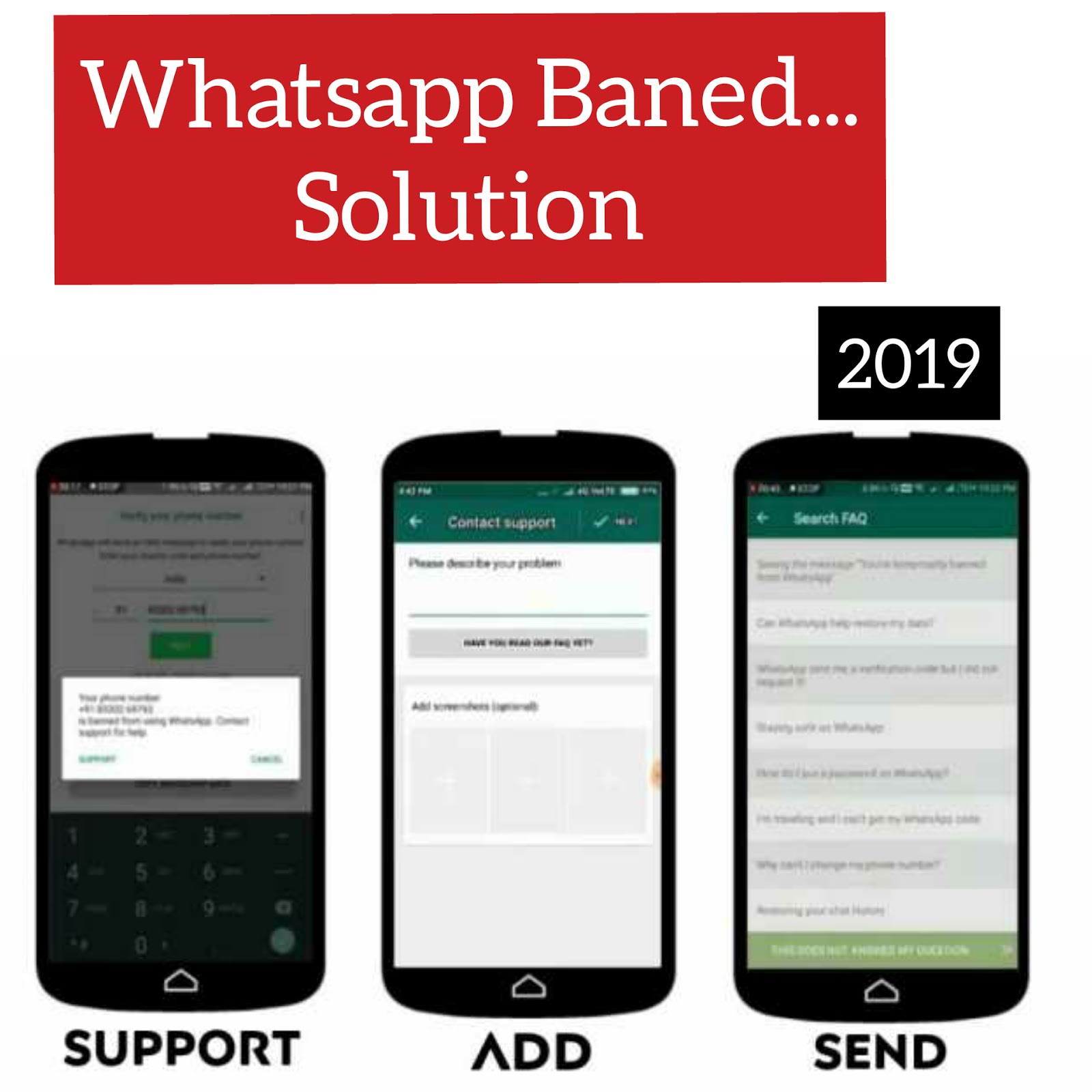 How to unban any whatsapp number 2019? - Touch 2 Gain