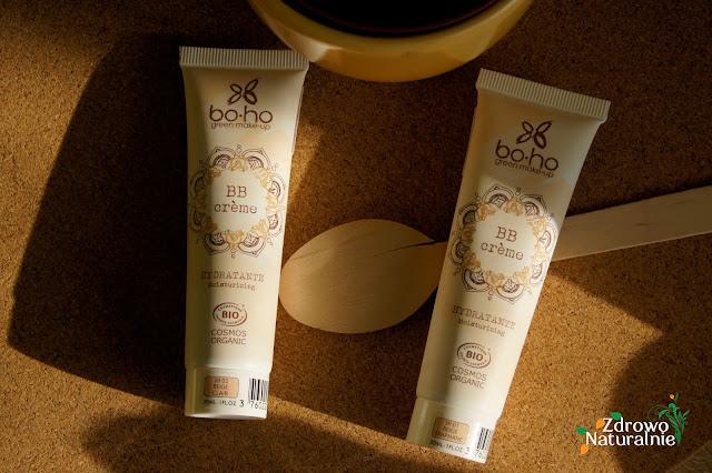 Boho Cosmetics - Organiczne kremy BB 01 Beige diaphane oraz 02 Beige clair