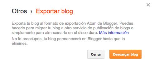 Bajar copiar blog