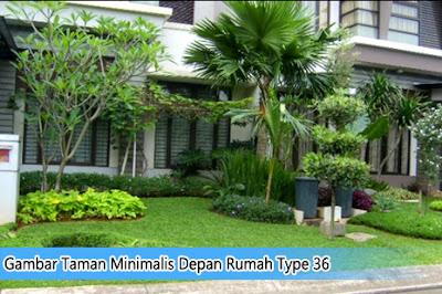 Gambar Taman Minimalis Depan Rumah Type 36