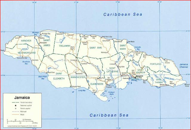 Gambar Peta politik Jamaika