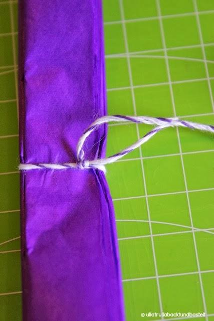 pompons aus seidenpapier