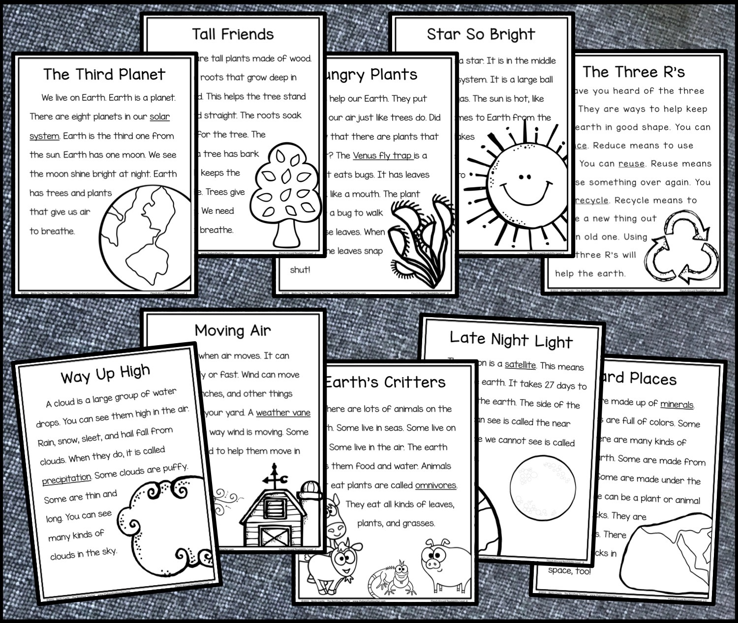 The Barefoot Teacher Earth Day Reading Comprehension Pack