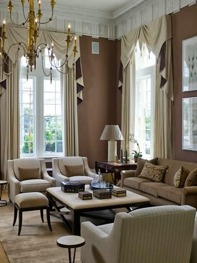 Salas color beige y marr n colores en casa for Decoracion de salas clasicas modernas