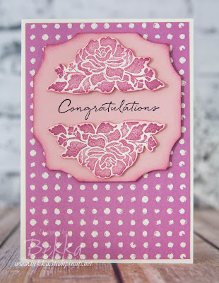 A Pink Floral Phrases Celebration Card made using Stampin' Up! UK Supplies - buy Stampin' Up! UK supplies here