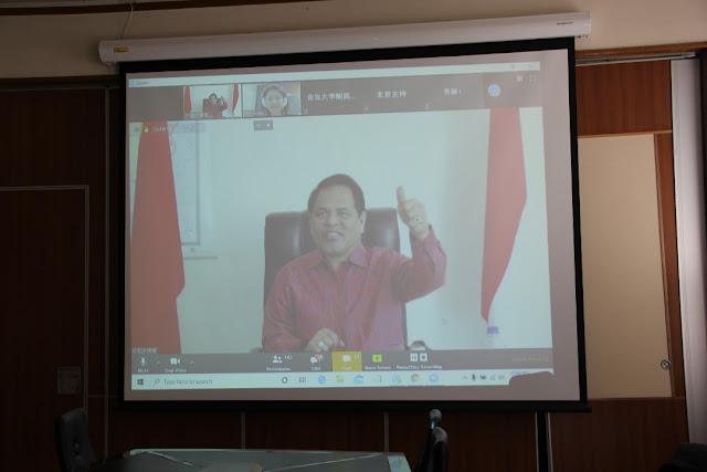 Djauhari Oratmangun Pimpin Webminar Pelatihan Penanganan COVID-19 Bersama Pakar Tiongkok