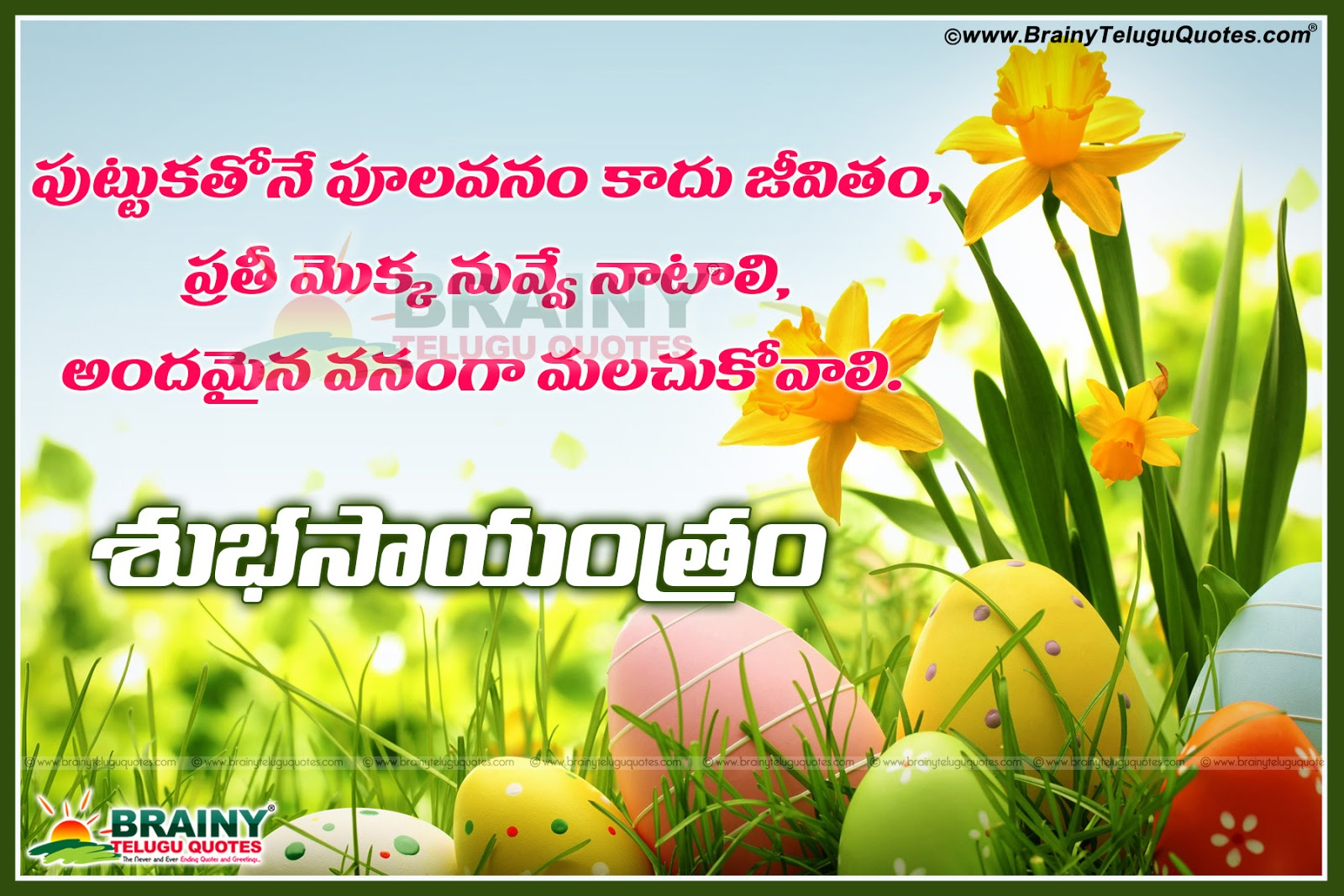 good evening inspirational quotes in telugu with beautiful