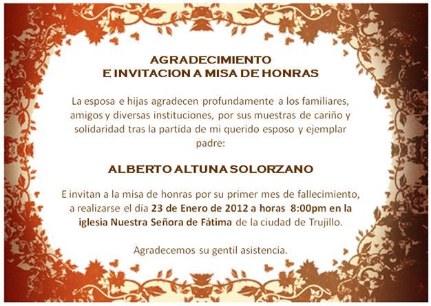 Invitación A Misa De Mes Por Fallecimiento Imagui