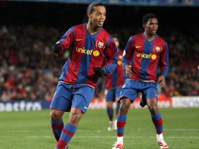 Eto'o emotional message to Ronaldinho as he turns 40 in jail