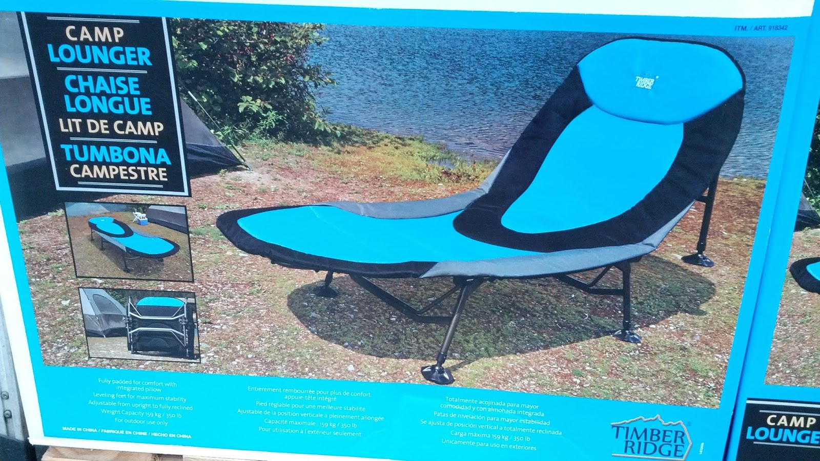 Camping Lounge Chair Timber Ridge Camp Lounger Chair Costco Weekender