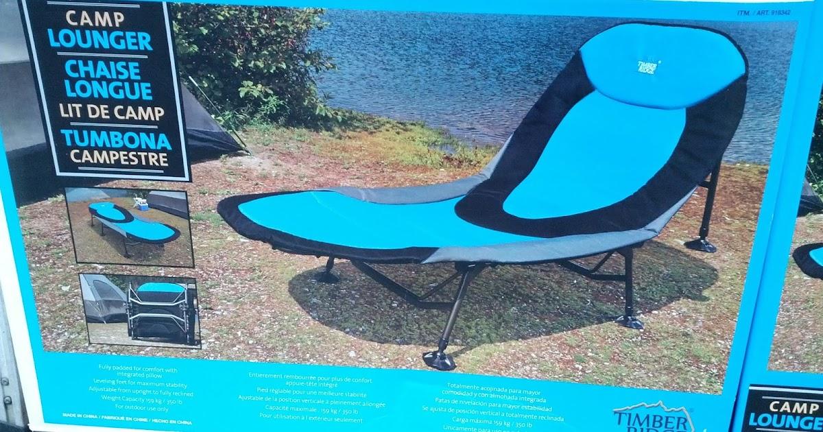 Timber Ridge Camp Lounger Chair | Costco Weekender