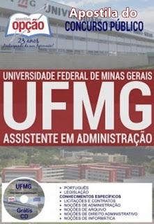 apostila concurso da ufmg 2018 tecnico administrativo