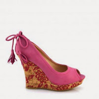 Sandale dama roz cu platforma