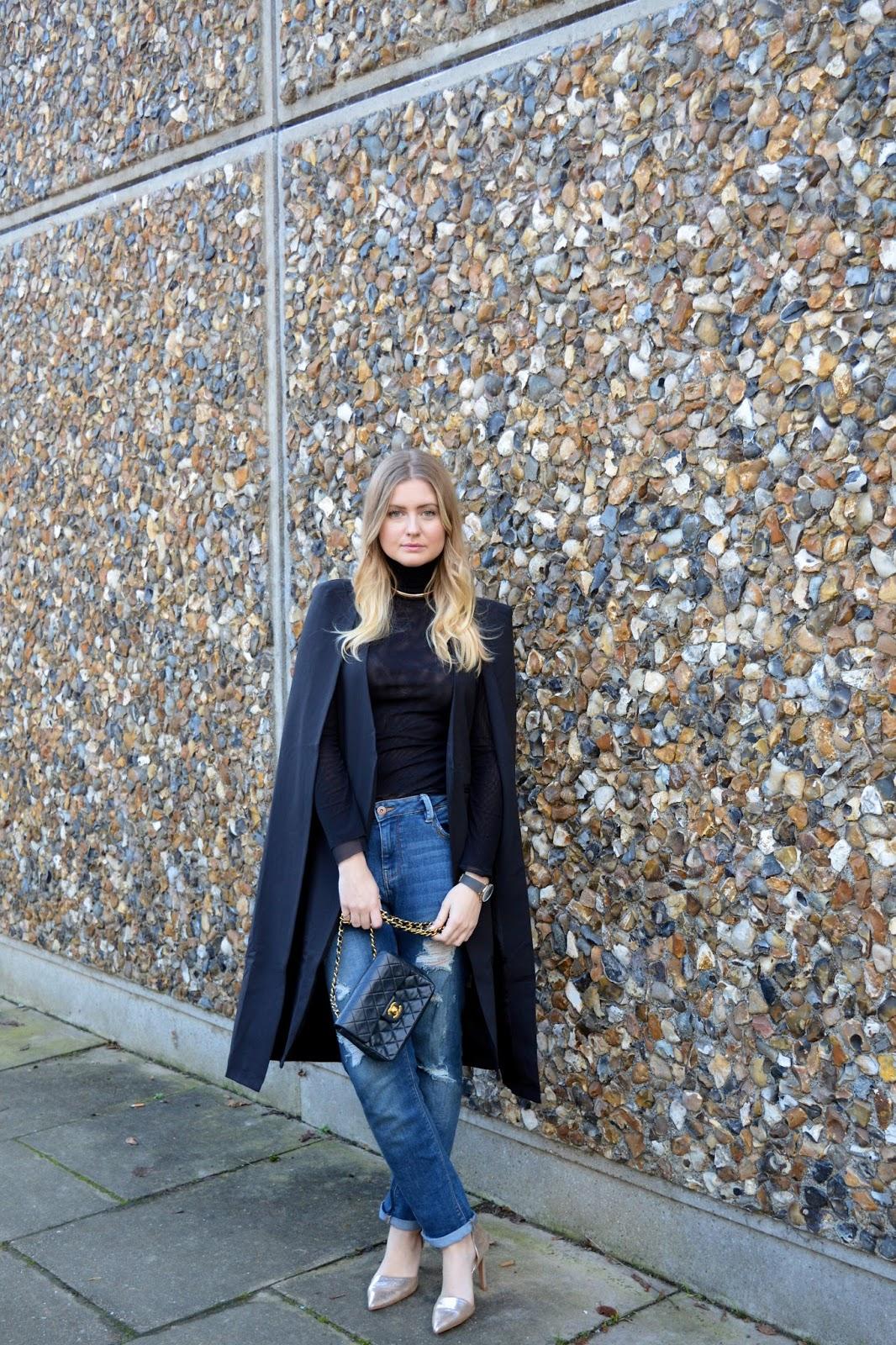 How to style a cape coat, UK fashion blog, fashion bloggers UK