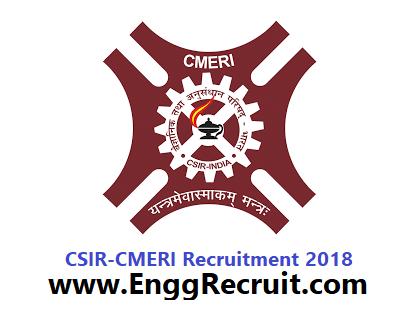 CSIR - CMERI Recruitment