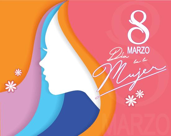 Día de la Mujer multicolor - vector