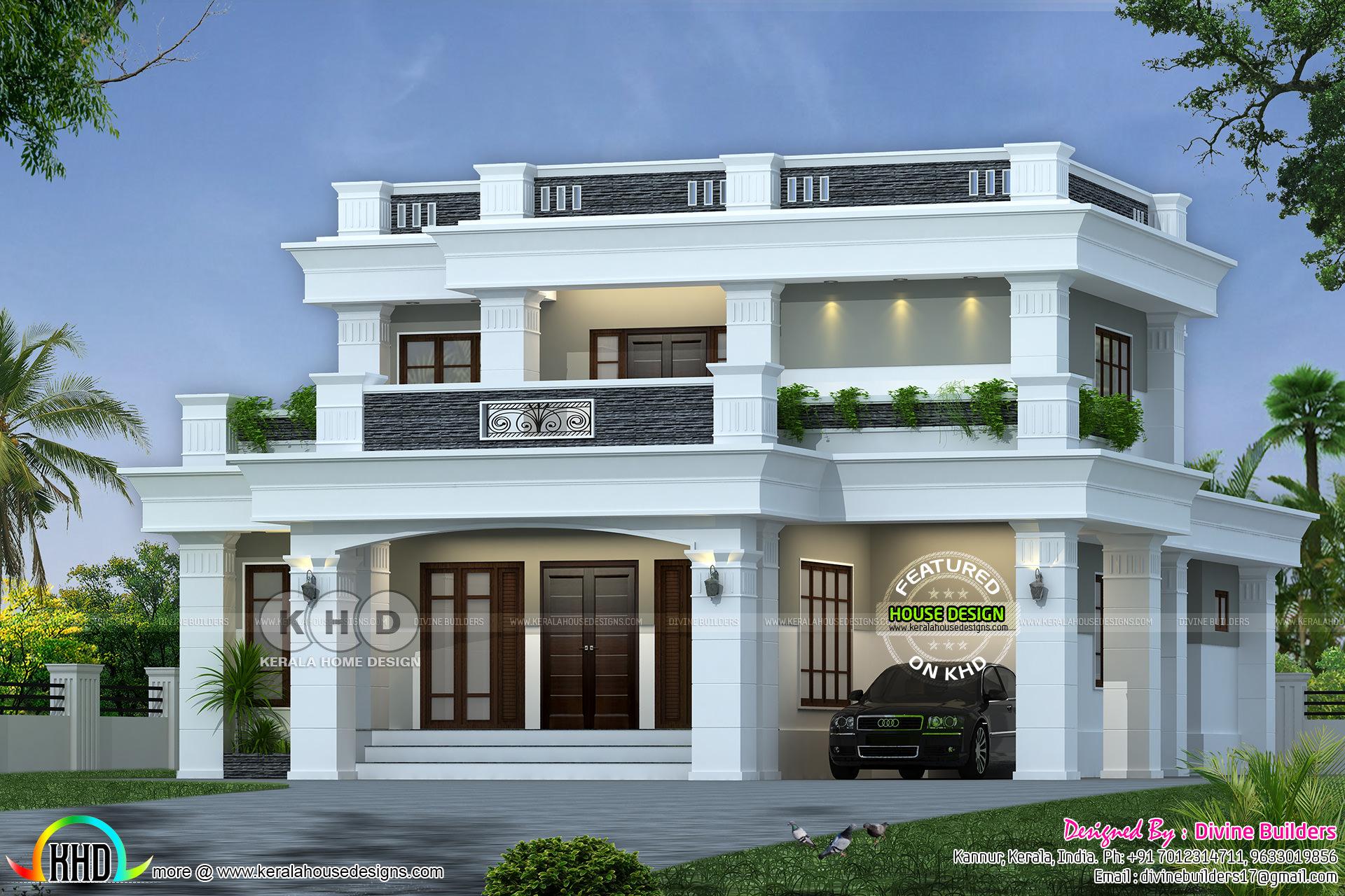 Decorative Flat Roof : Kerala home design and floor plans