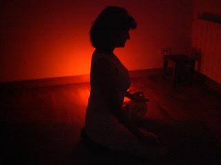 Ardha Padmasana (posición de meditación)