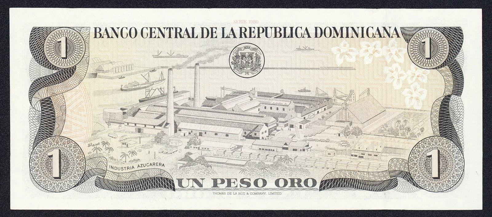 Dominican Republic 1 Peso Oro Banknote 1980 Juan Pablo