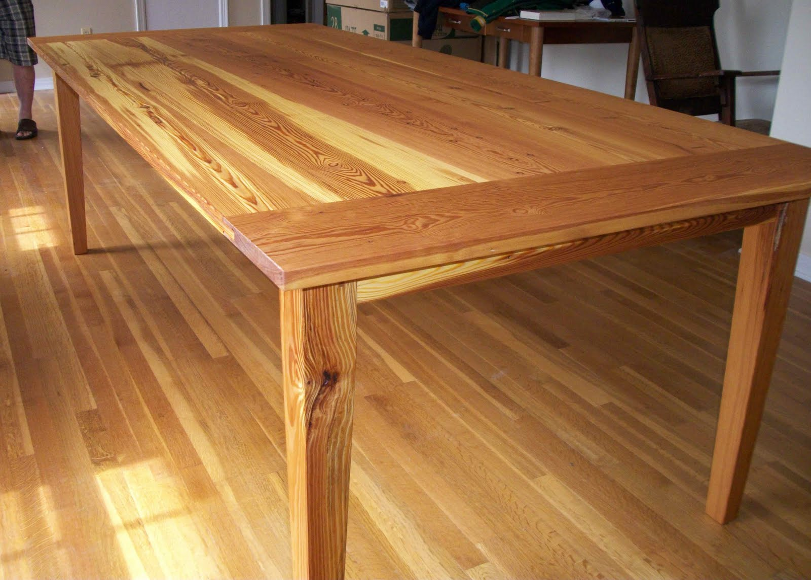 Heart Pine Countertops Taylor Custom Furniture Brendan 39s Heart Pine Dining Table