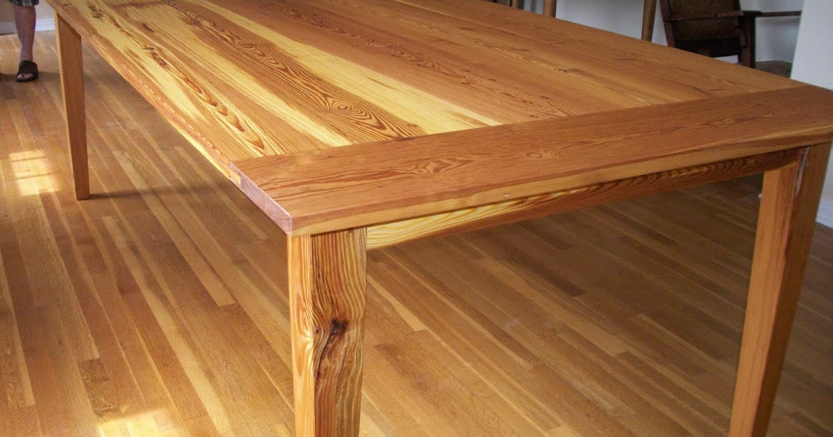 Taylor Custom Furniture Brendan S Heart Pine Dining Table